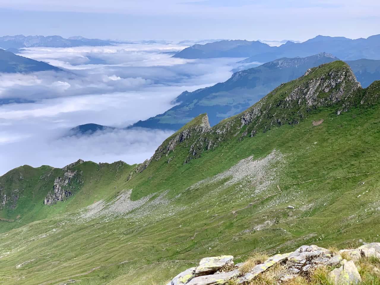 Ahorn Mountain Ridge View