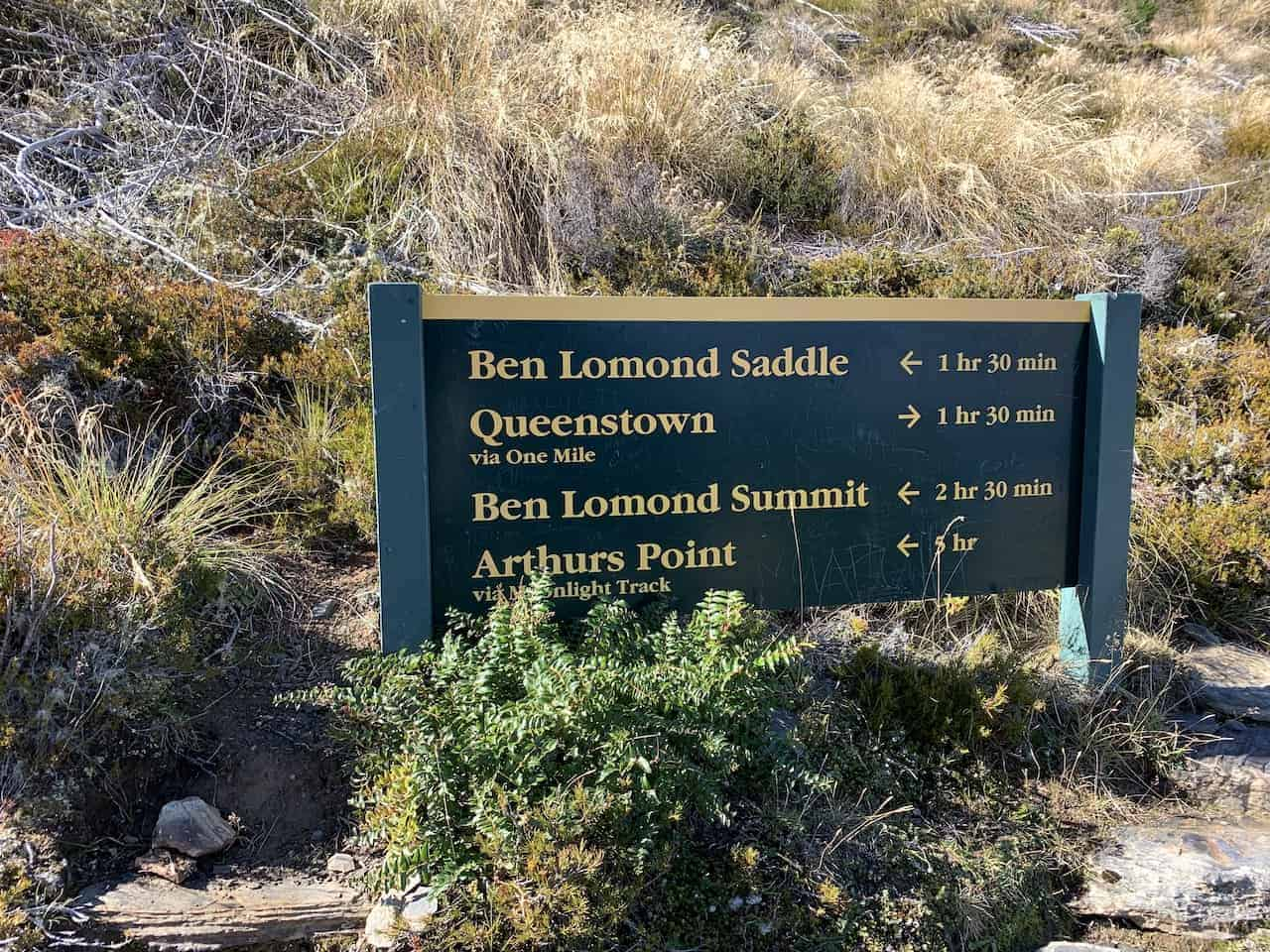 Ben Lomond Track Sign