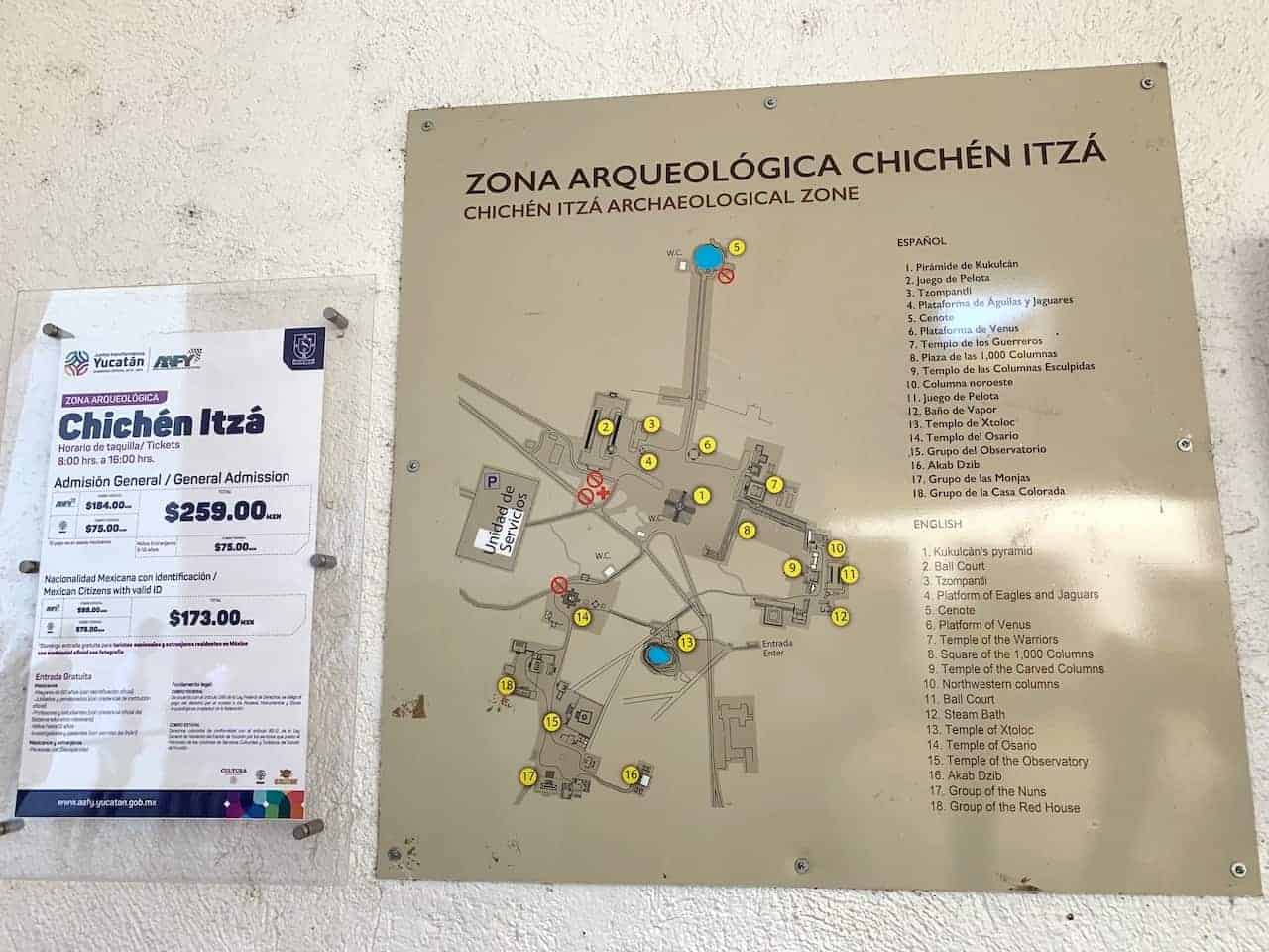 Chichen Itza Map