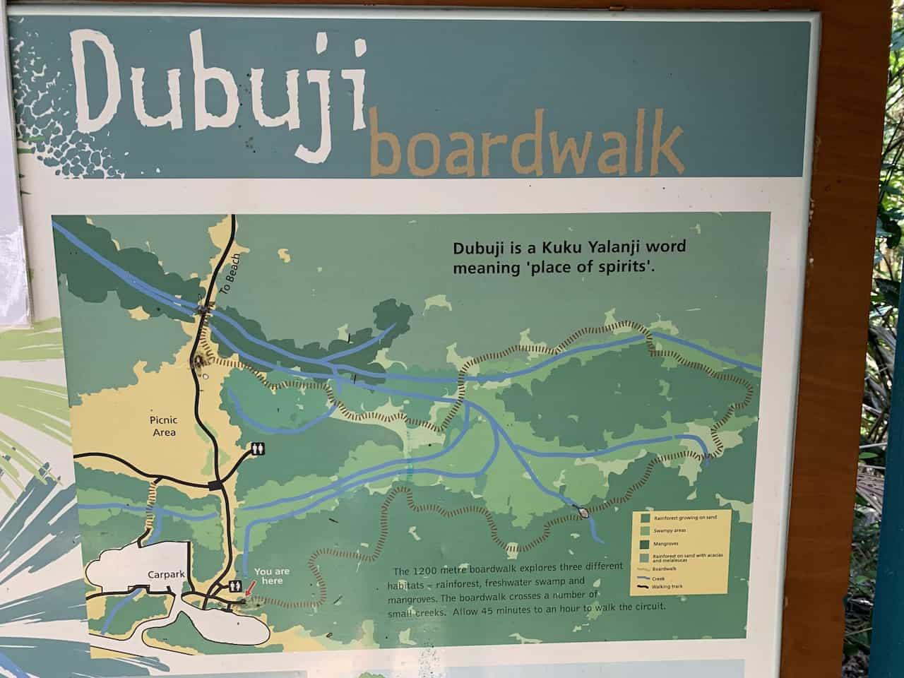 Dubuji Boardwalk Daintree Map