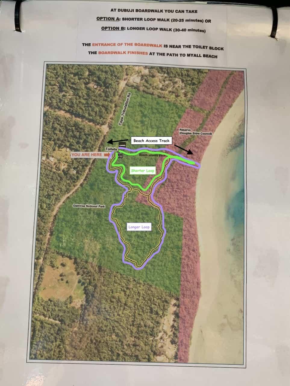Dubuji Boardwalk Map