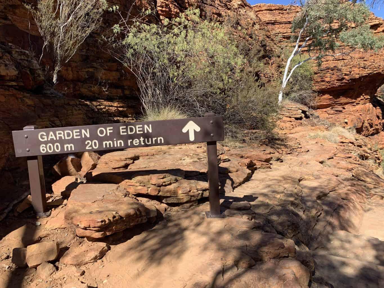 Garden of Eden Sign