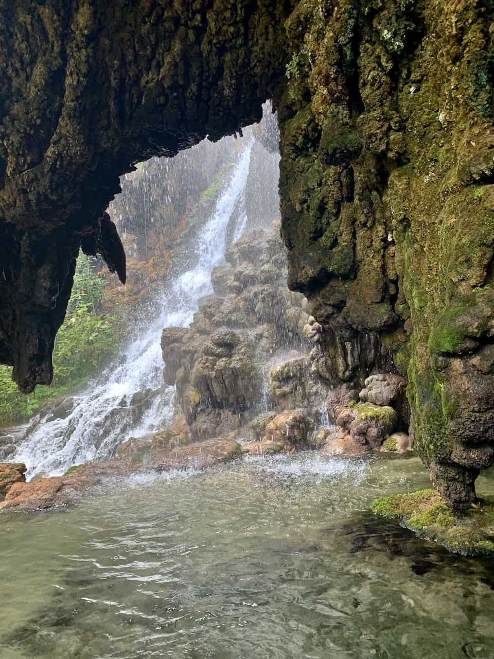 Indonesia Cave Waterfall