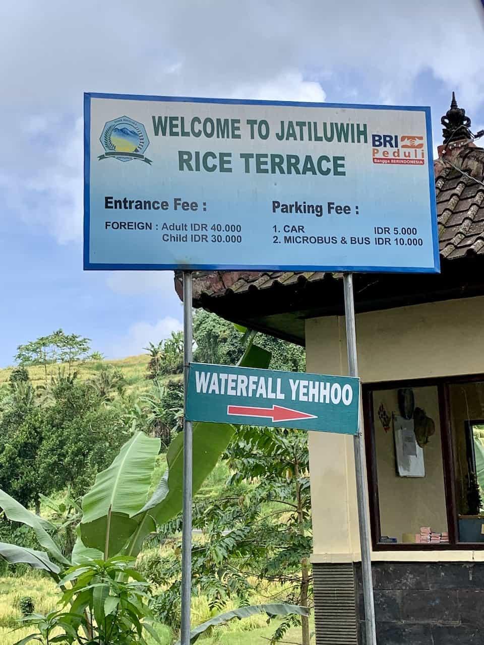 Jatiluwih Rice Terraces Entrance