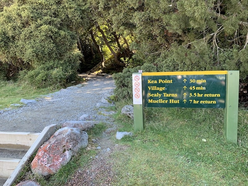 Kea Point Track Sign