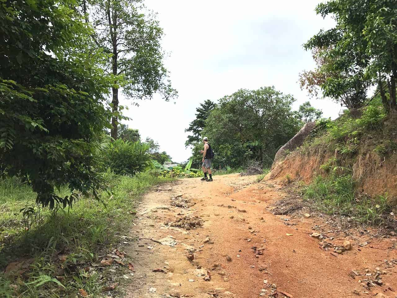 Khao Ra Hike Dirt Path