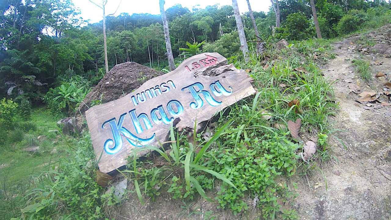 Khao Ra Sign