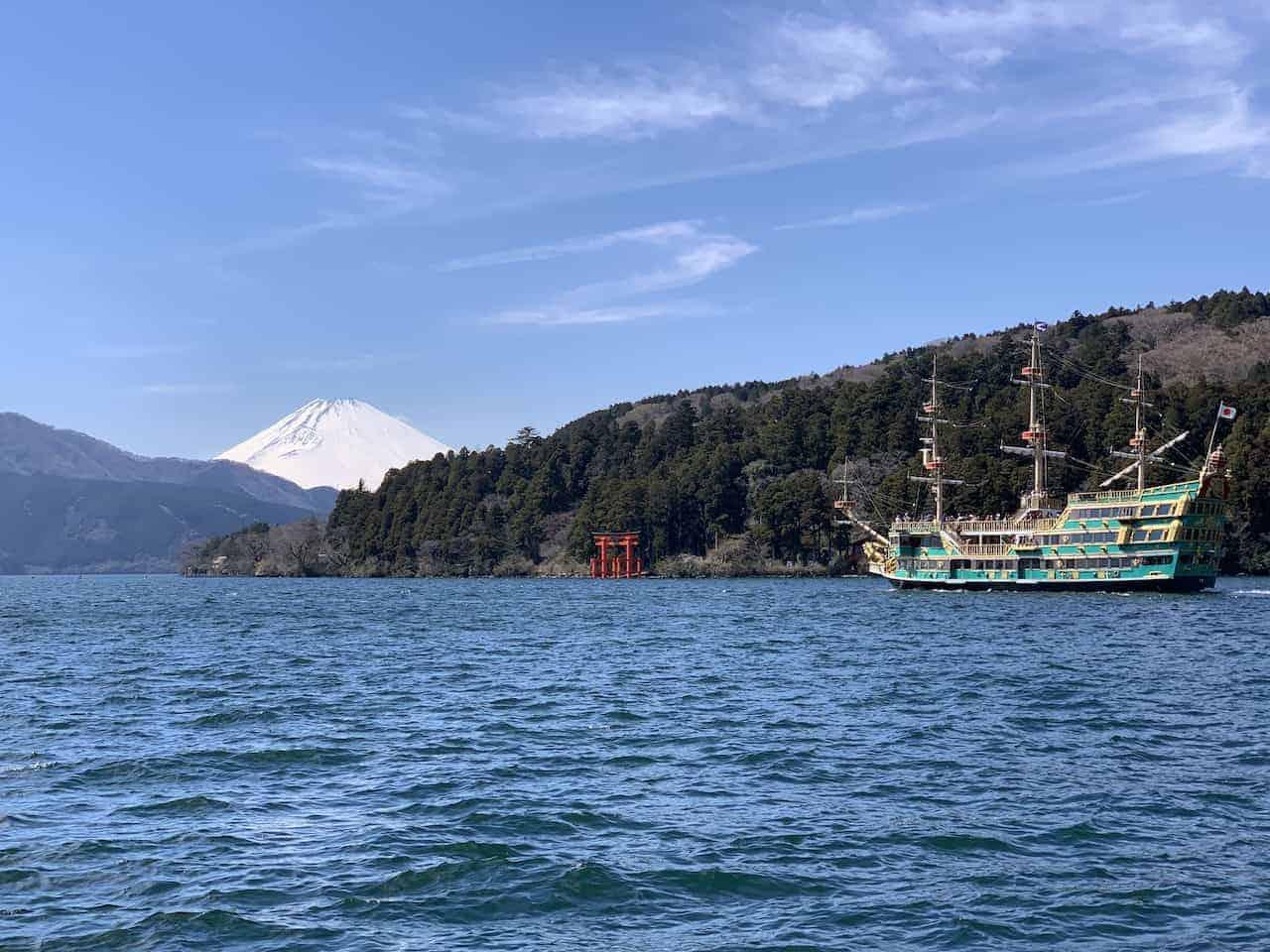 Lake Ashi Fuji Shrine View
