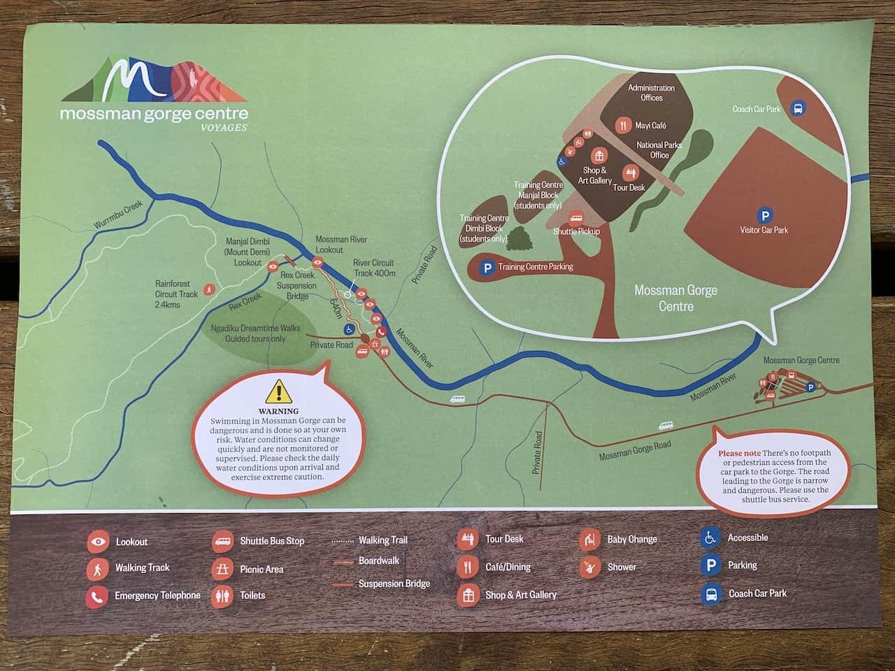 Mossman Gorge Walk Map