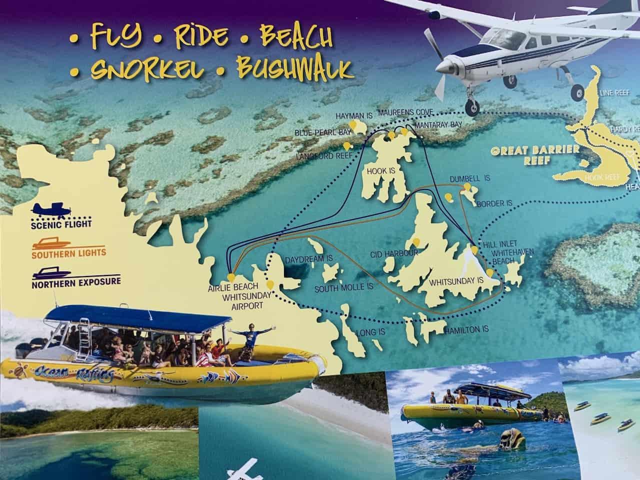 Ocean Rafting Map
