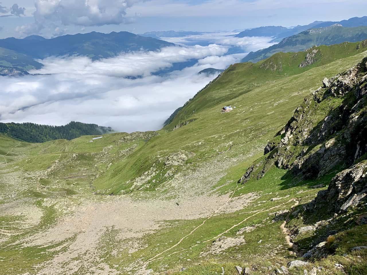 Path to Edelhutte from Ridge