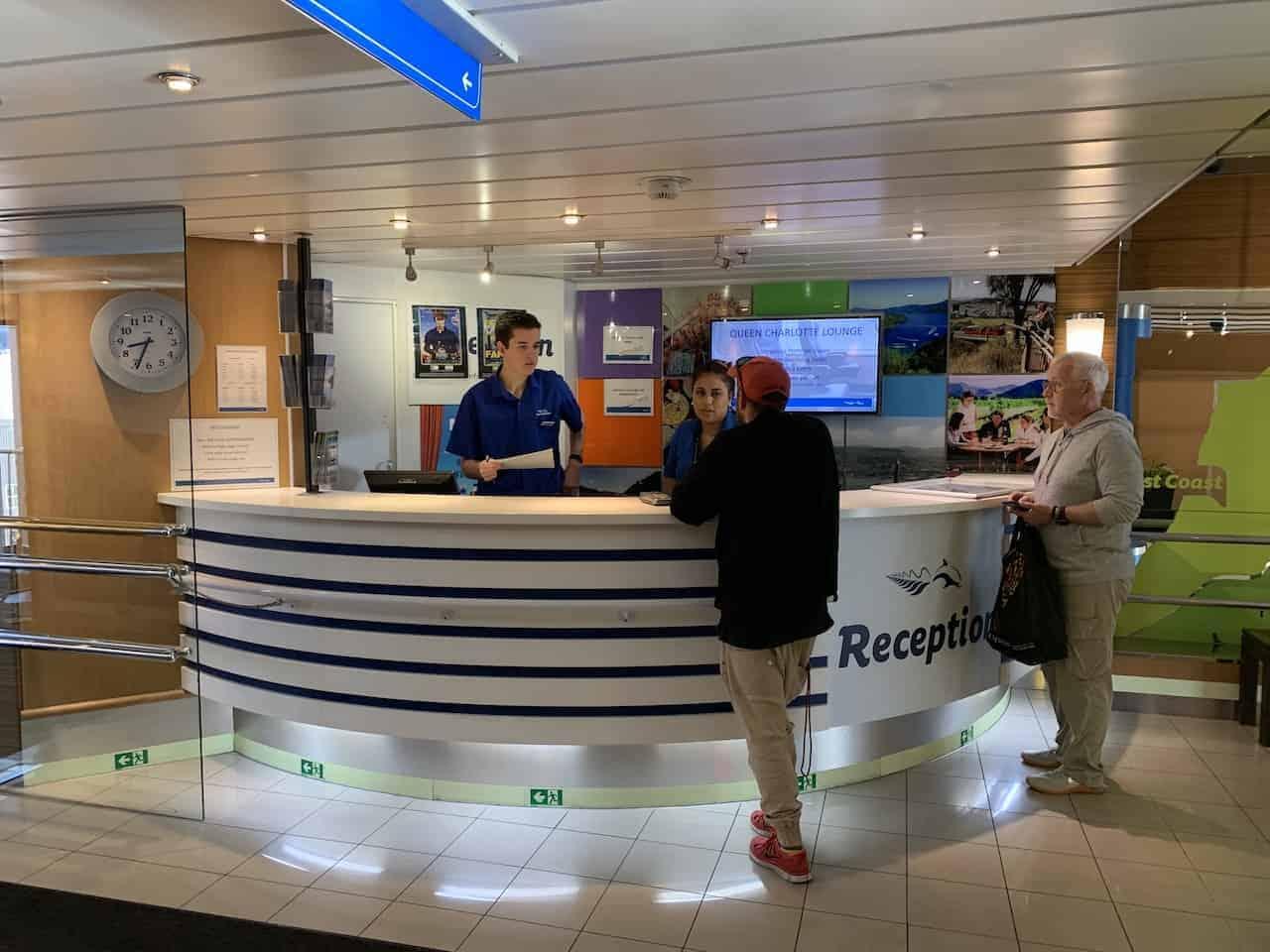 Reception Desk Interislander Ferry