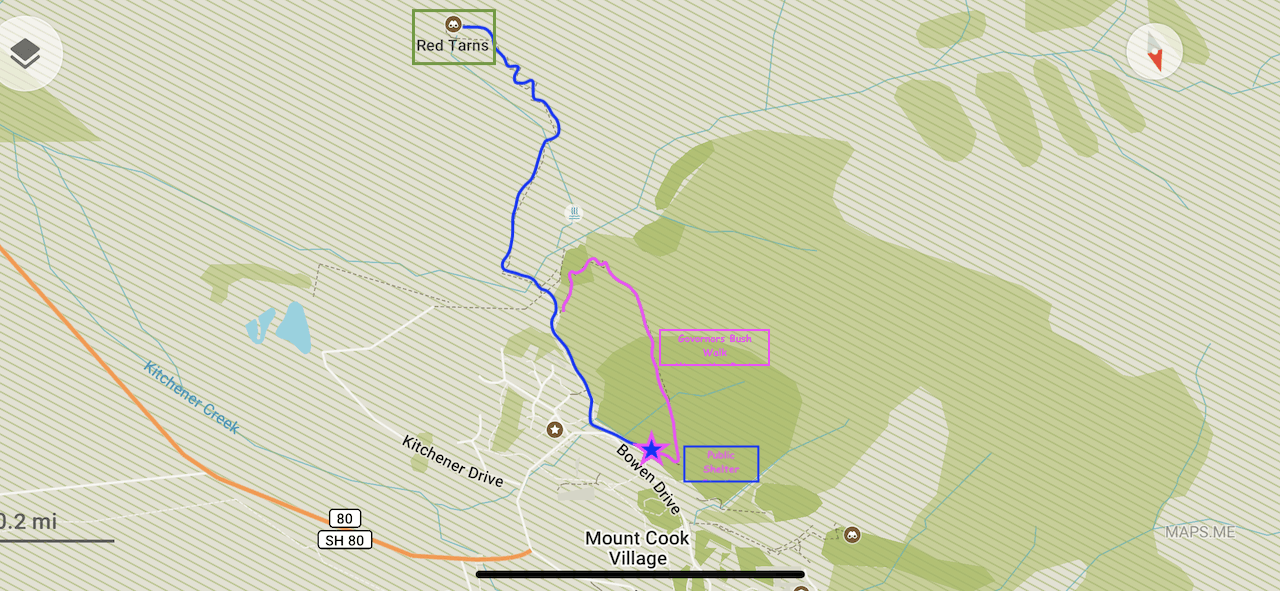Red Tarns Track Map