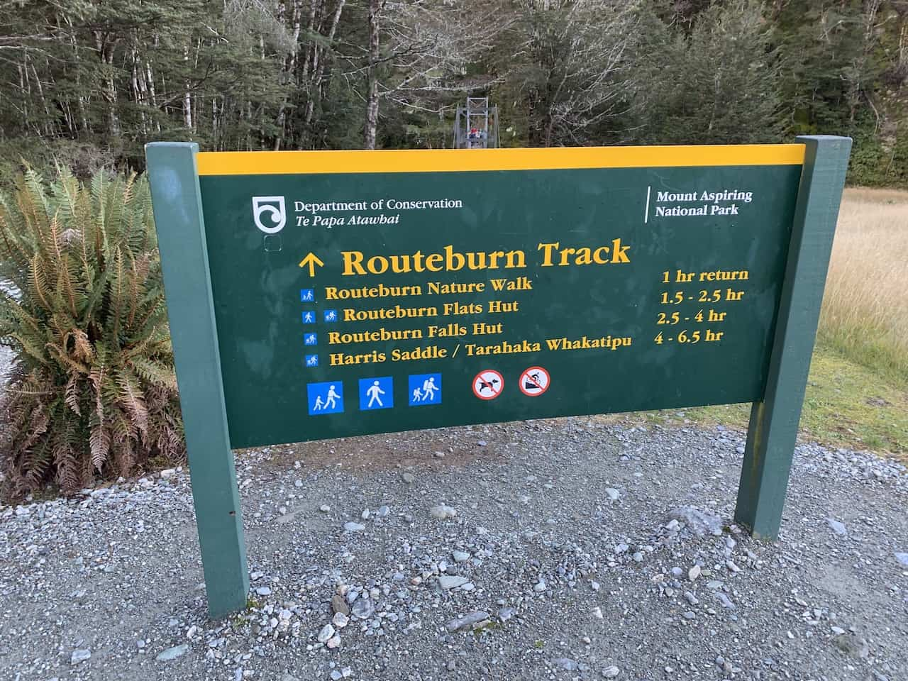 Routeburn Track Sign