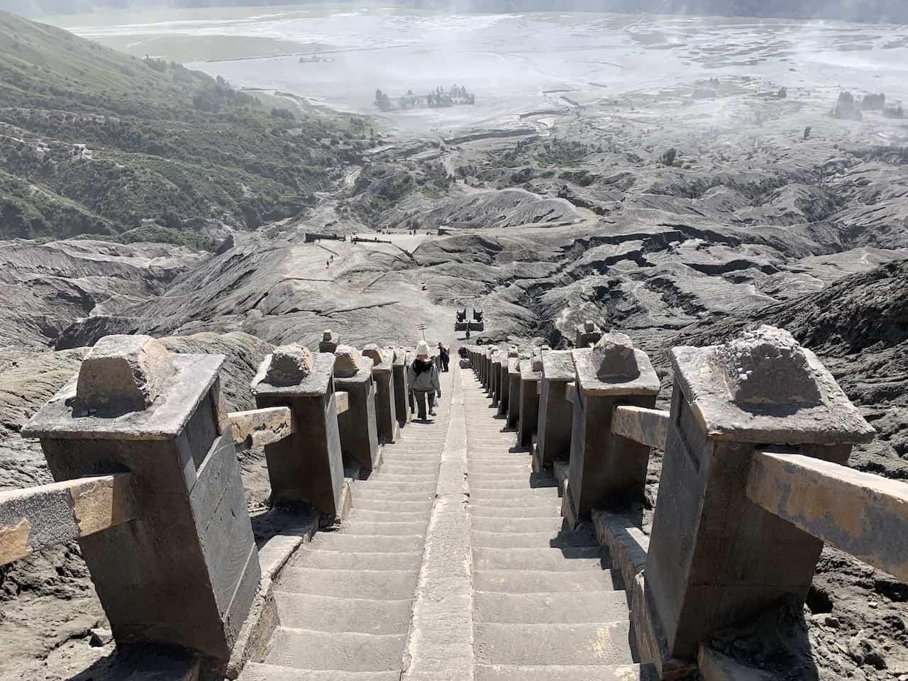 Steps up Mount Bromo