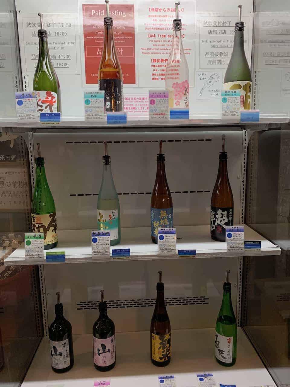 Takayama Sake Tasting