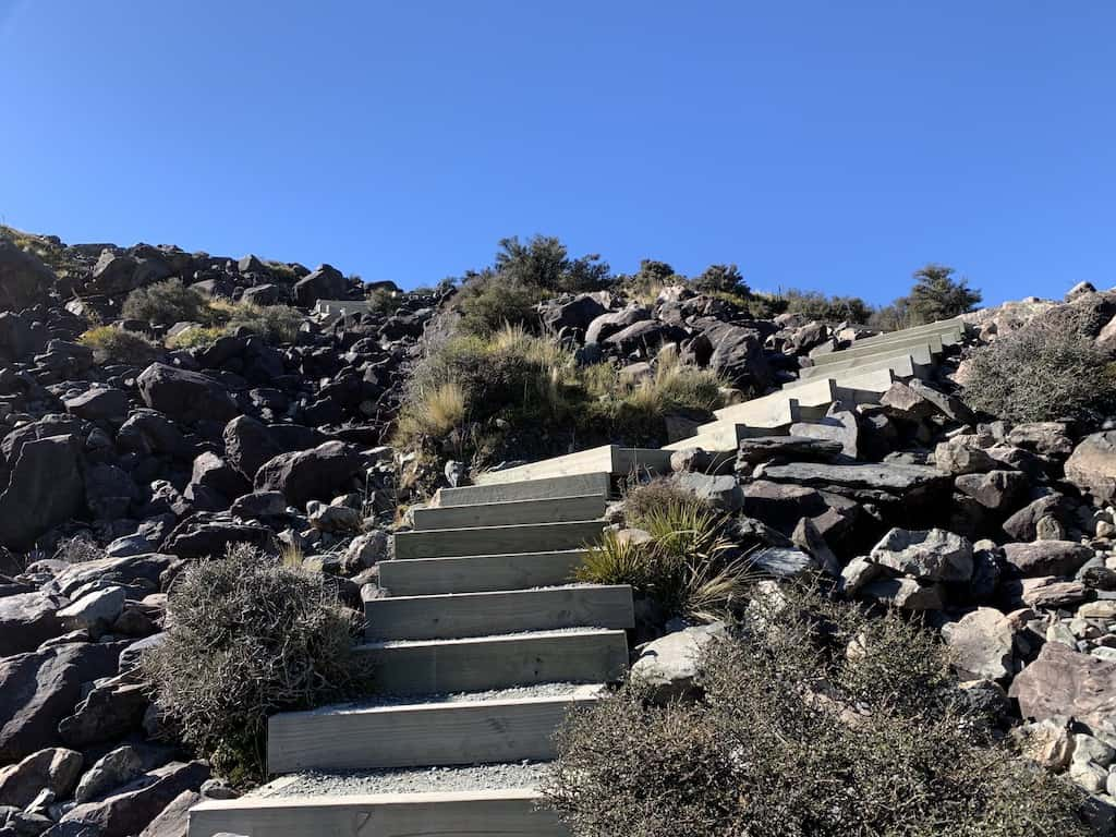 Tasman Glacier Track Stairs