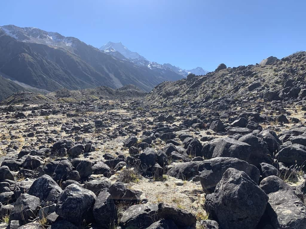 Tasman Lake Track Rocks
