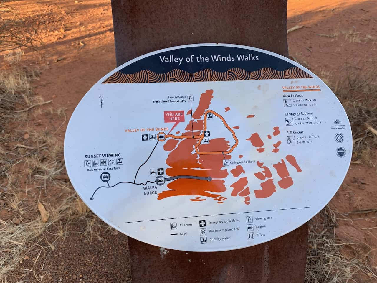 Valley of the Winds Walk Map