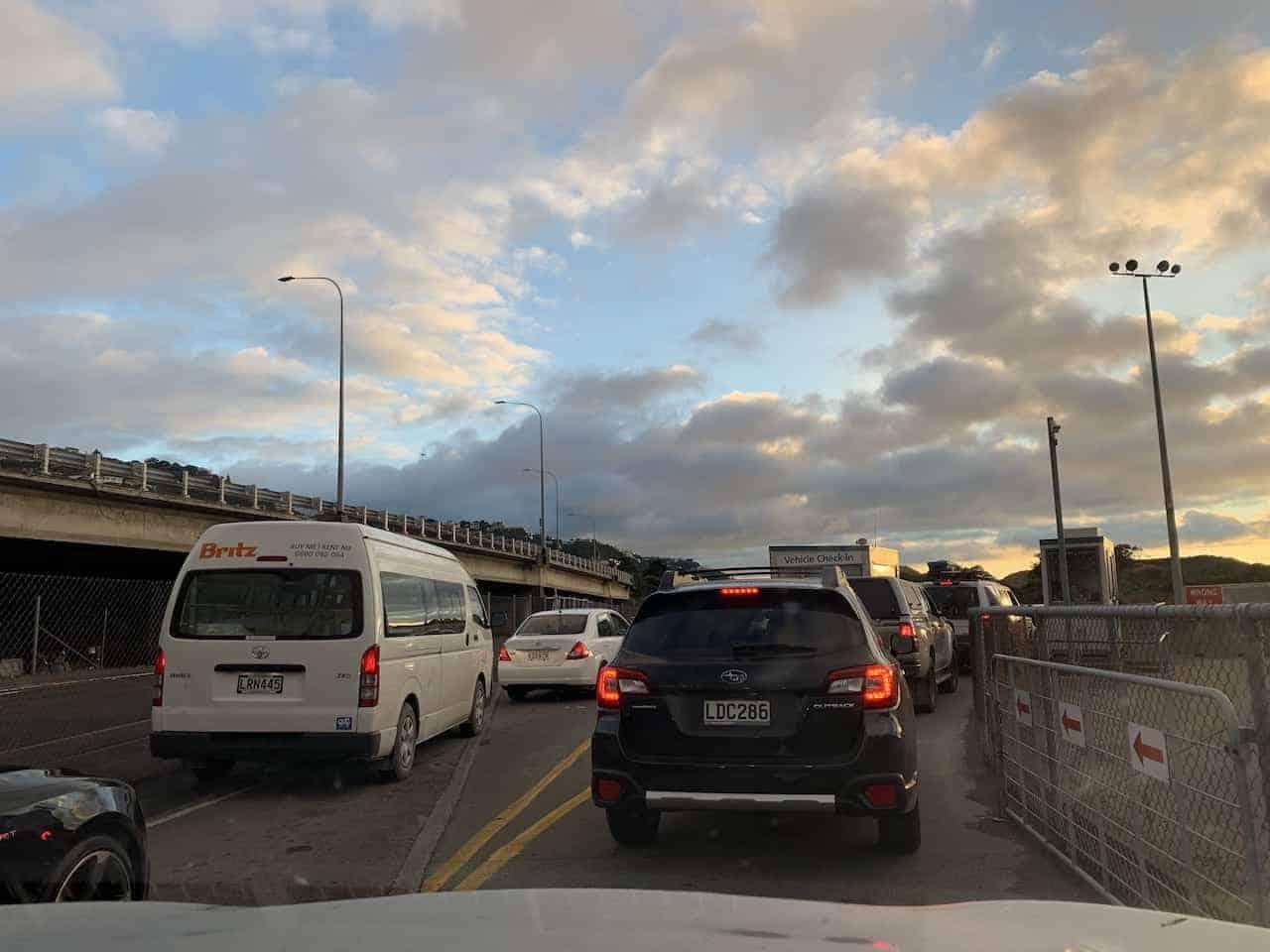 Wellington Ferry Car Lane