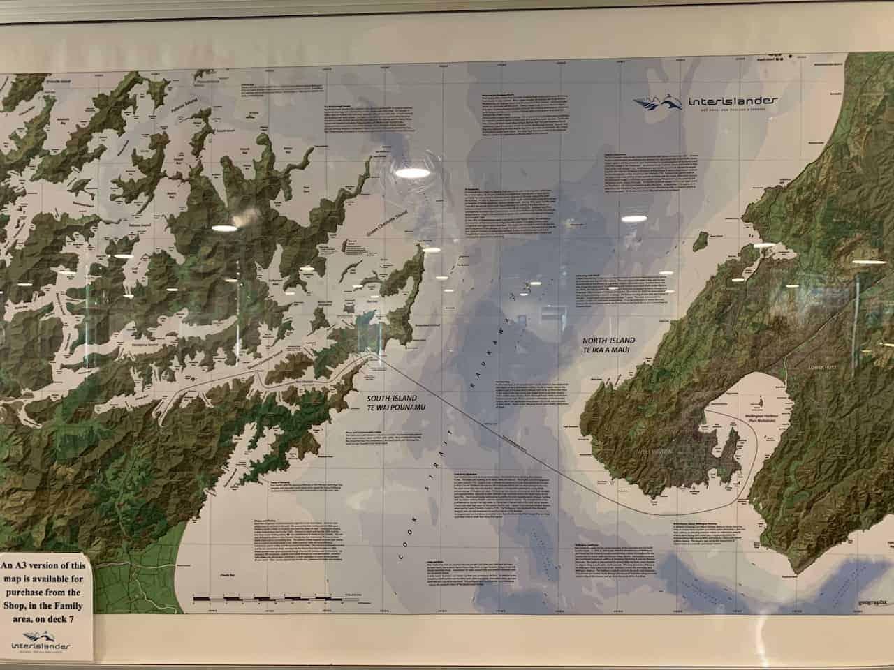 Wellington to Picton Ferry Map