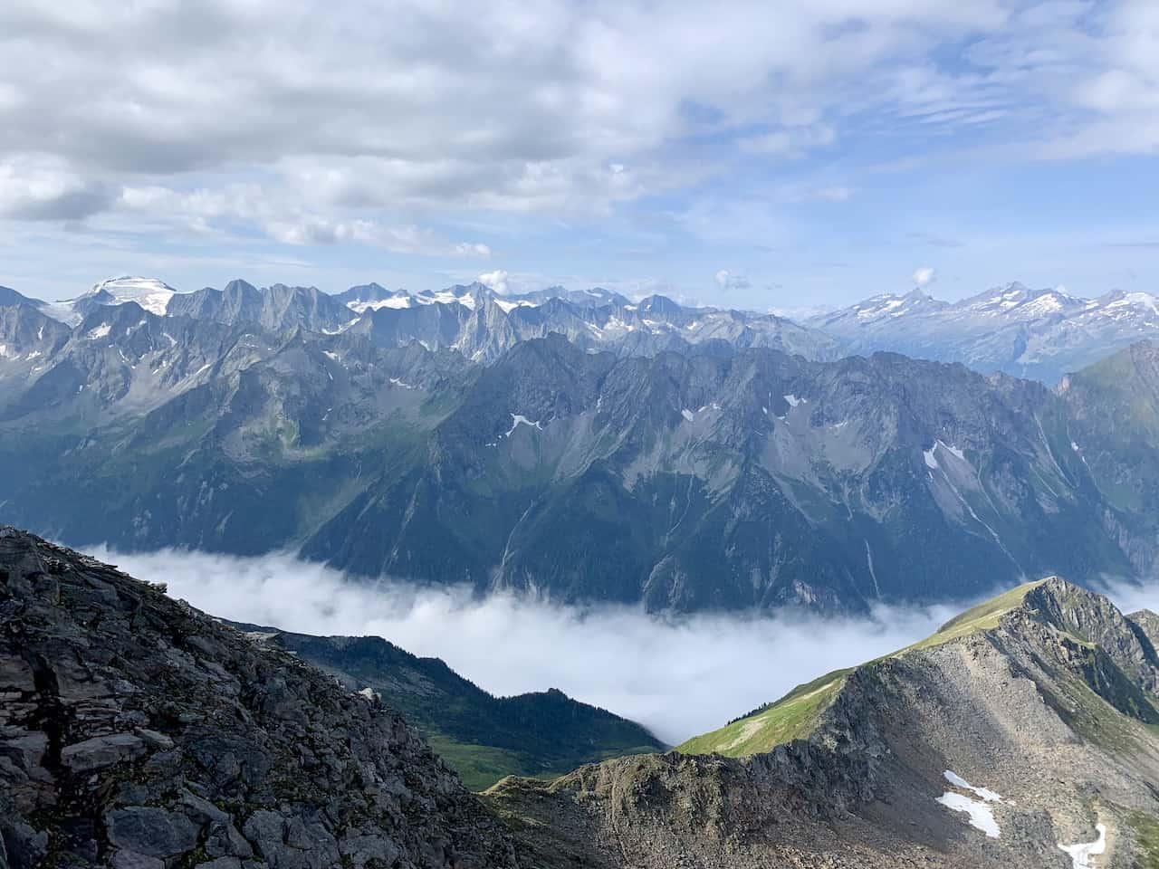 Zillertal Valley Ahornspitze