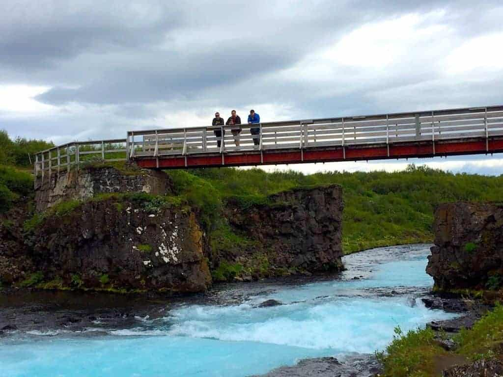 Bruarfoss Iceland Bridge
