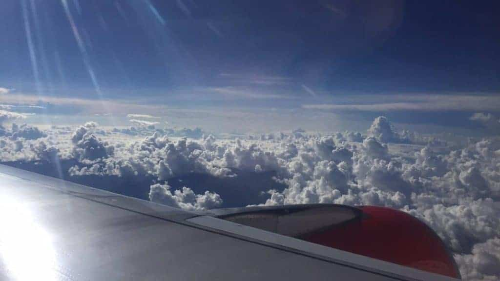 Colombia Plane Clouds