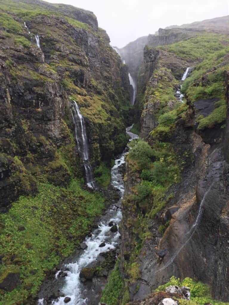 Glymur Hike Iceland Waterfall