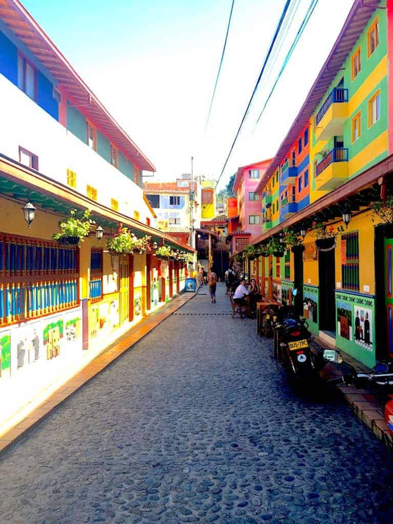 Guatape Streets Colors