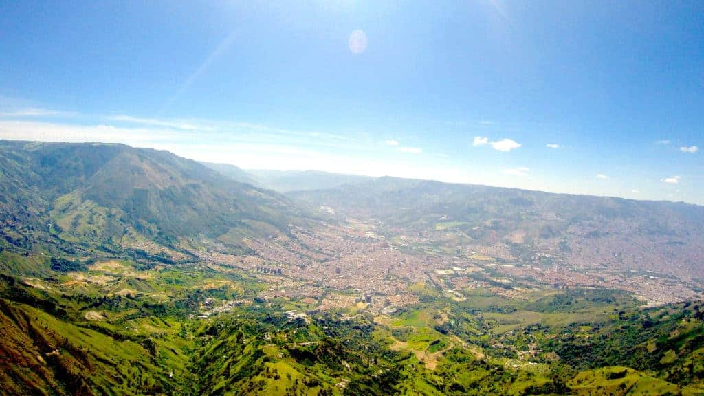 Medellin Paragliding City View