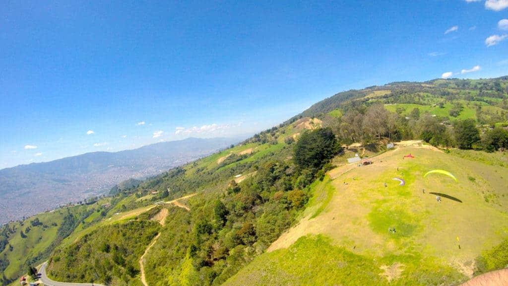 Medellin Paragliding Landing