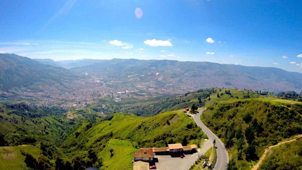 Medellin Paragliding Valley.