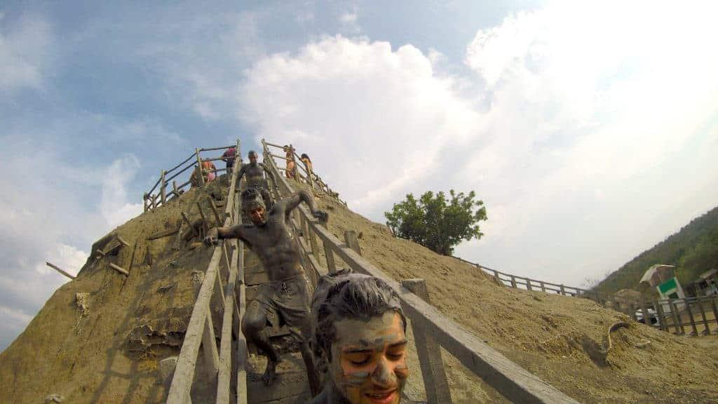 Mud Volcano El Totumo Stairs