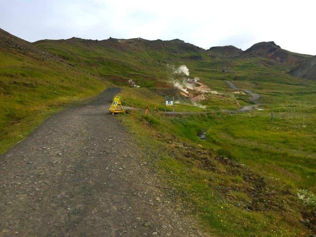 Reykjadalur Hot Springs Hike Path