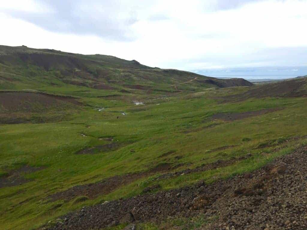 Reykjadalur Hot Springs Hike Valley
