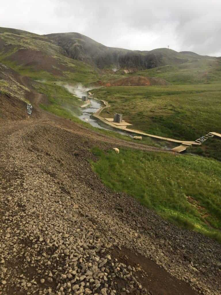 Reykjadalur Hot Springs River