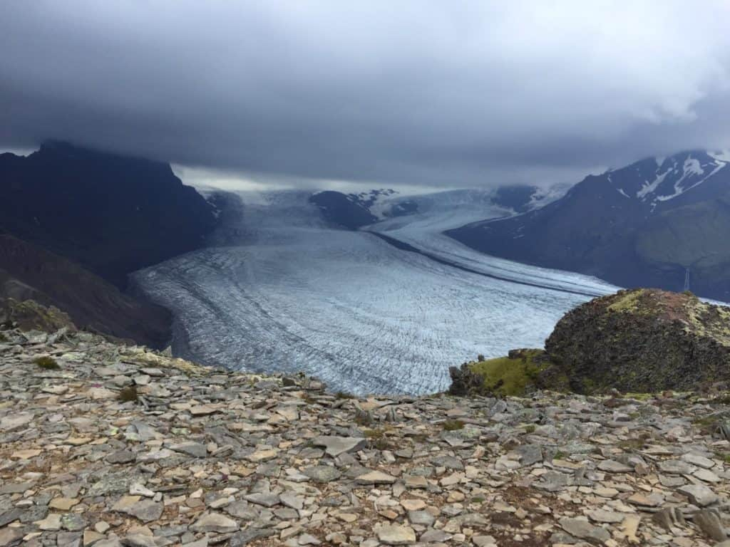 Skaftafell Hiking Glacier View