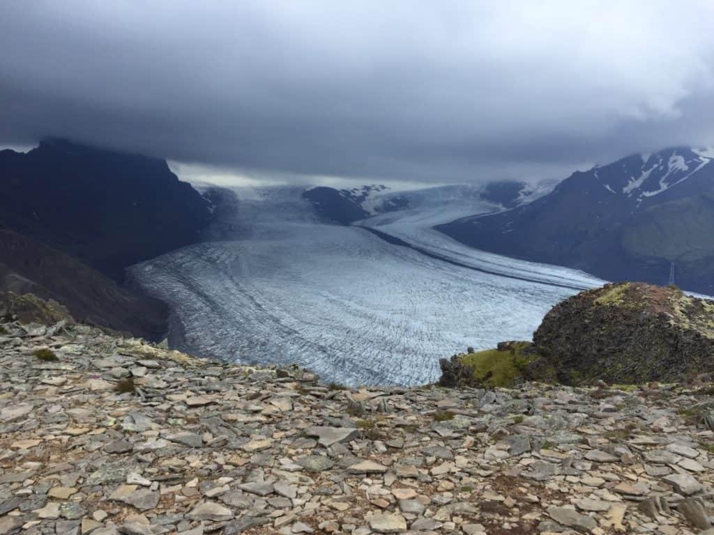 Skaftafell Hiking Glacier View