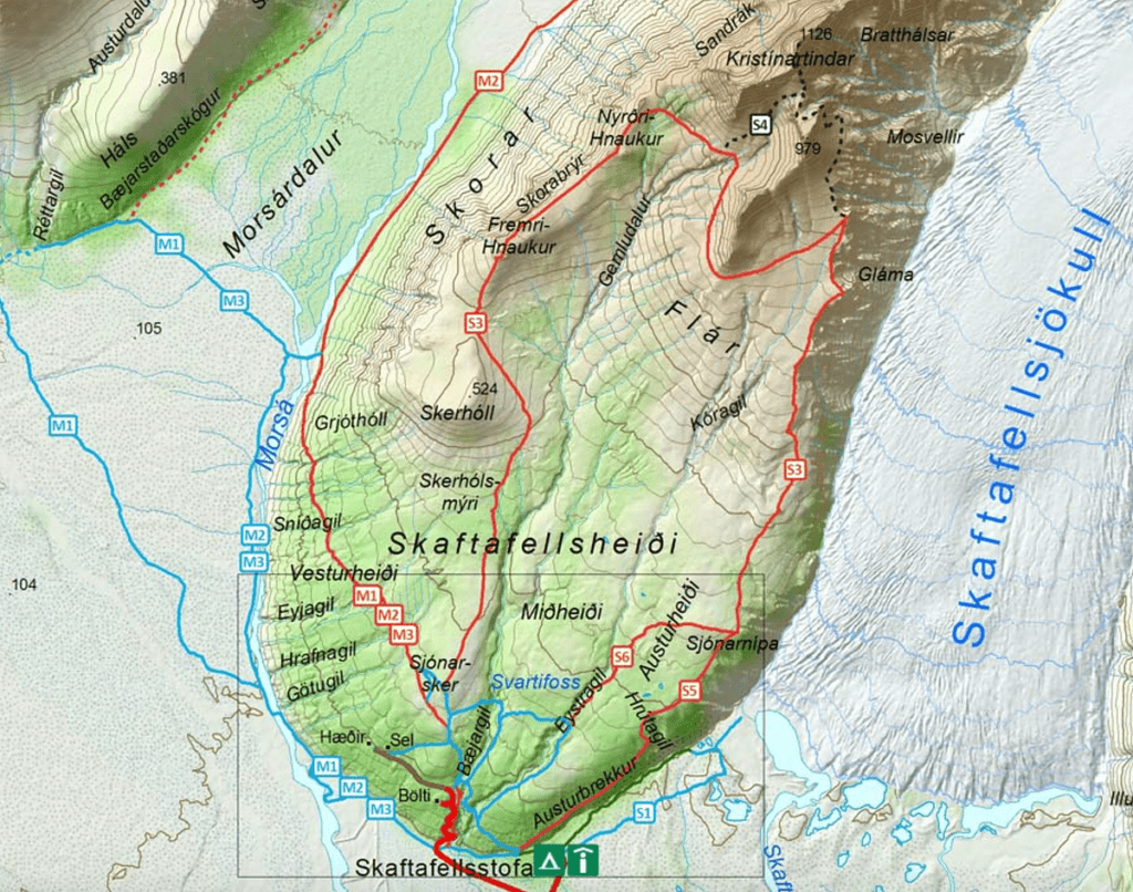 Skaftafell Hiking Map