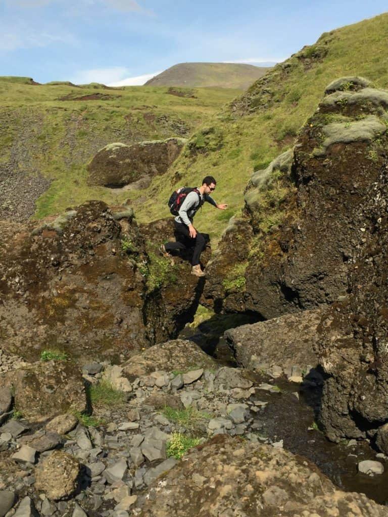 Skogafoss Hike Iceland Jump