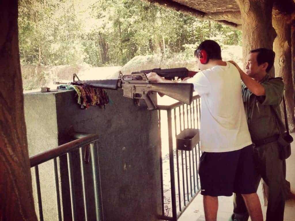 Cu Chi Tunnels Gun Range