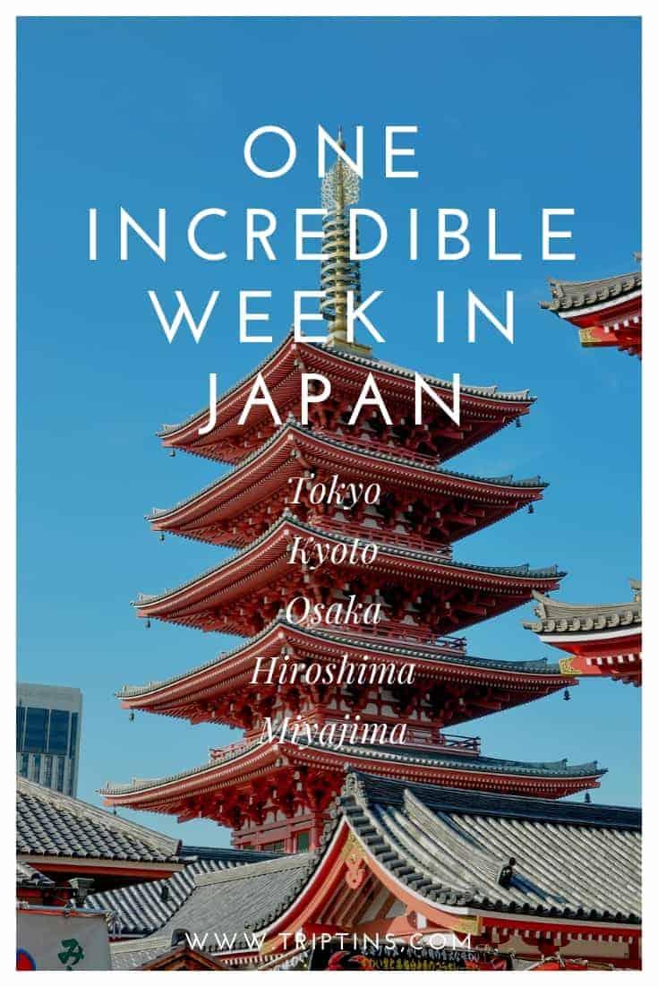 Japan 1 Week Itinerary