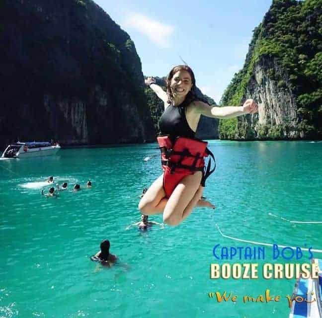 Koh Phi Phi Booze Cruise Jump