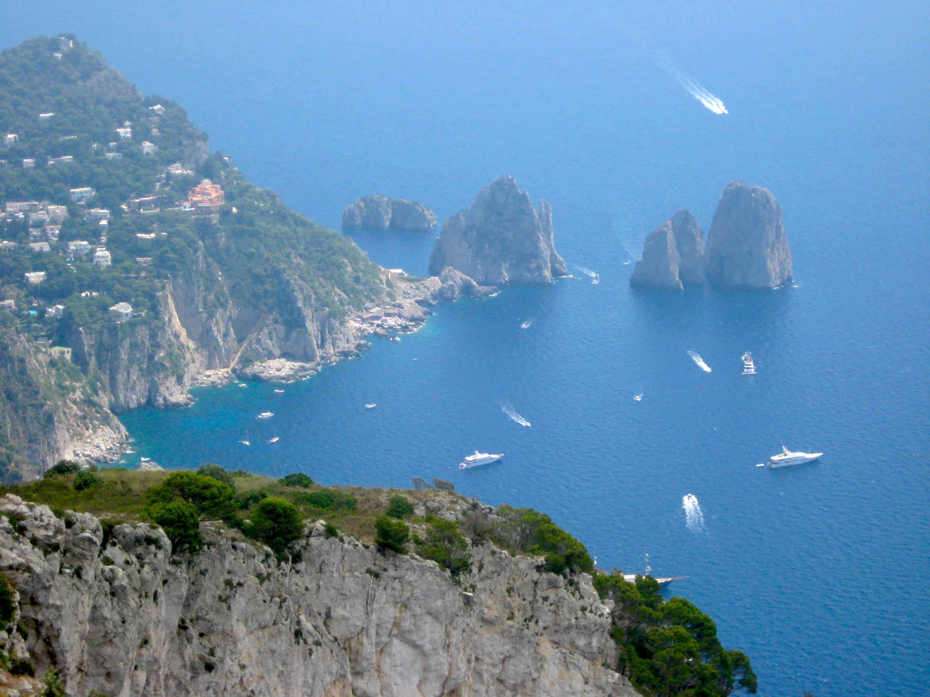 Mount Solaro Capri View