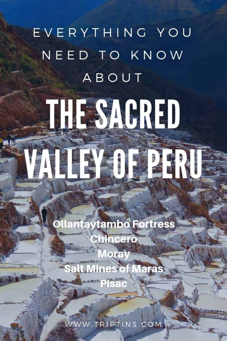 Sacred Valley Itinerary
