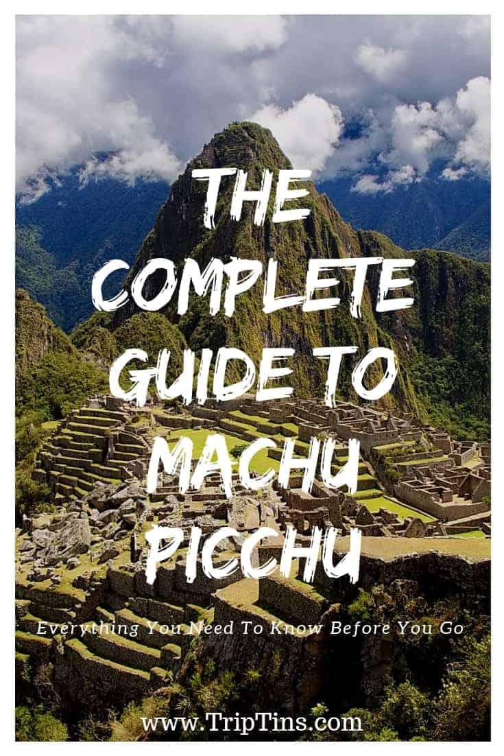 Machu Picchu Itinerary