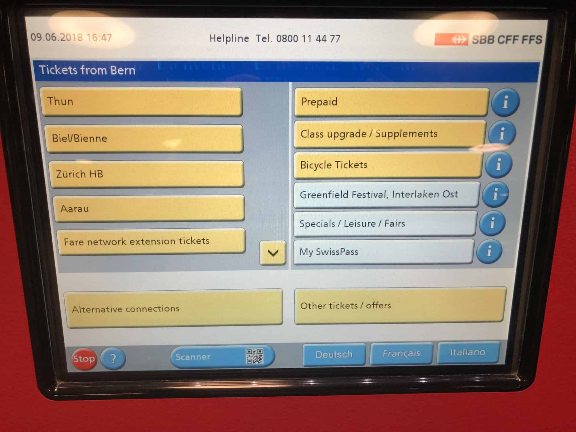 Swiss Train Ticket Machine 1