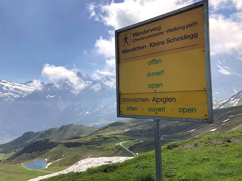Trail Opening Sign Mannlichen