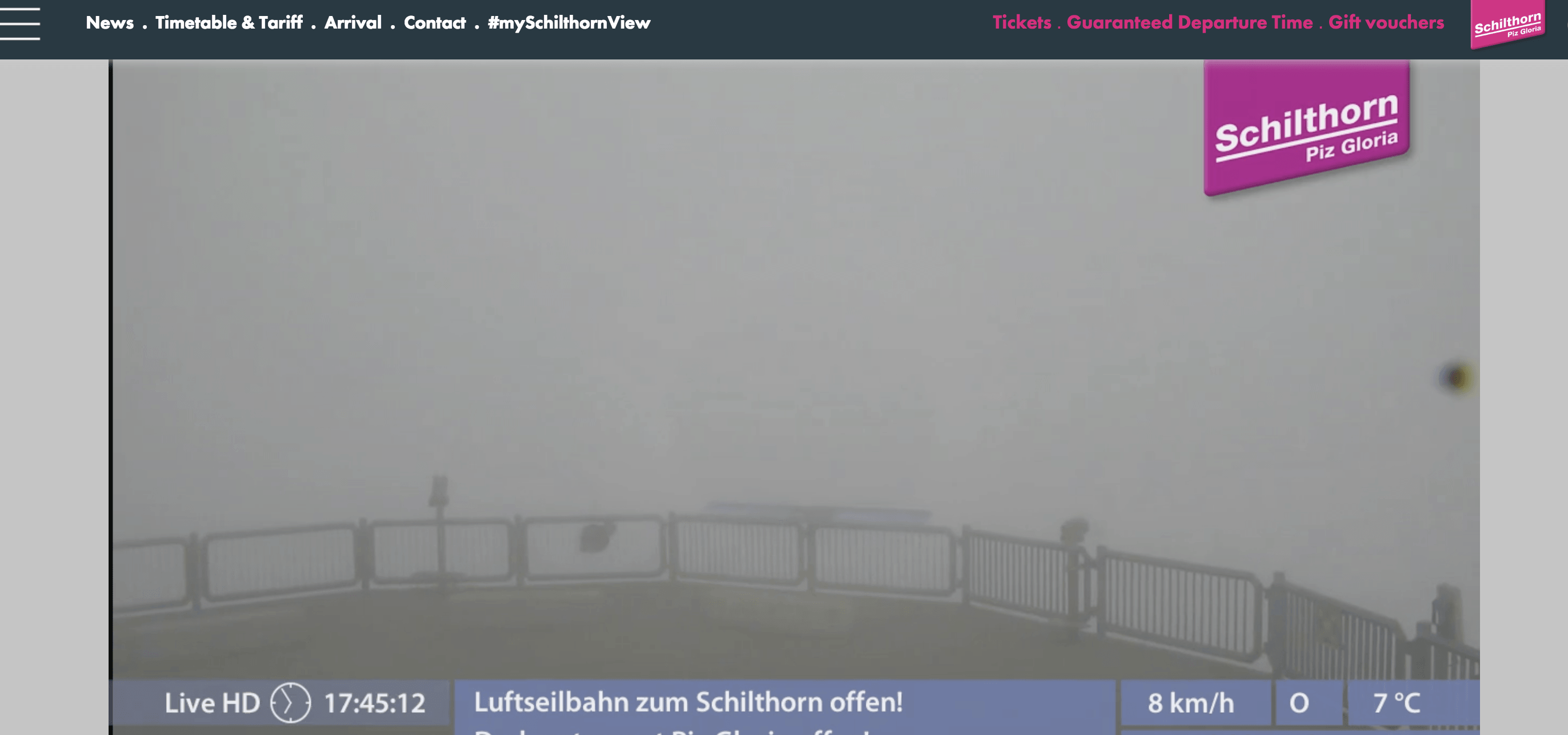 Schilthorn Clouds Webcam